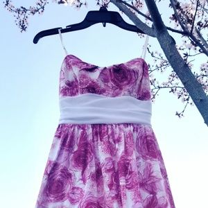 Pink and white rose dress (size 3)